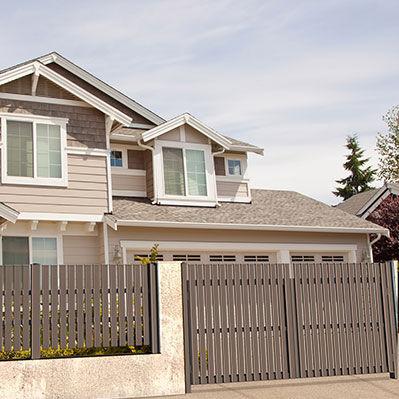 swing gate / aluminum / bar / residential