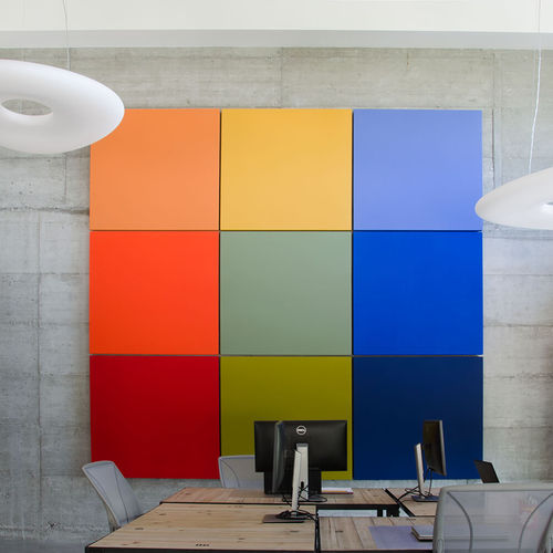 ceiling acoustic panel / for walls / fabric / for offices