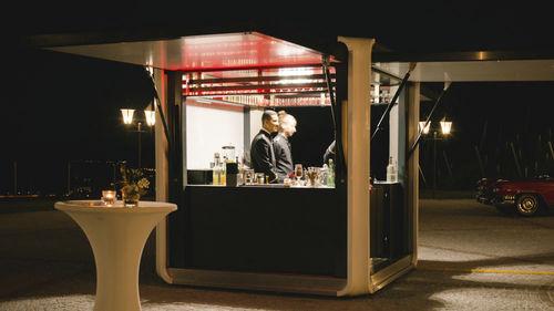 Catering kiosk / metal Solar Energy for the Night, from Powerful Batteries HBT Energietechnik GmbH