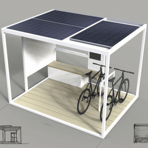 Mobile phone charging station / solar Charge, Meet Friends, Have a Drink HBT Energietechnik GmbH