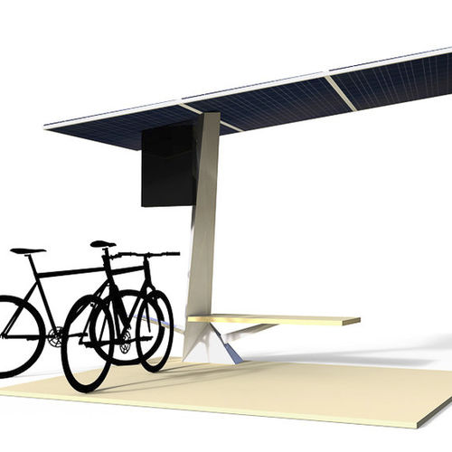 Cycle shelter with solar panel Charging E-Bikes can be Stylish HBT Energietechnik GmbH