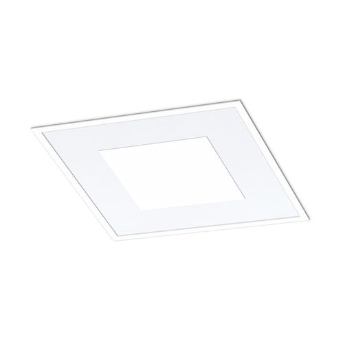 recessed ceiling light fixture / LED / square / polycarbonate