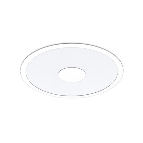 recessed ceiling light fixture / LED / round / sheet steel