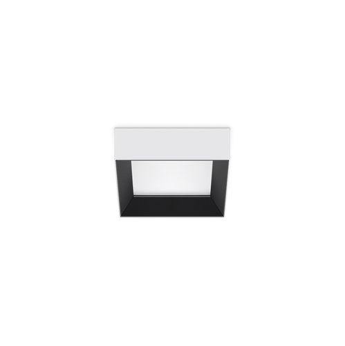 recessed downlight / LED / square / stainless steel