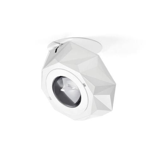 surface-mounted light fixture / orientation / LED / glass