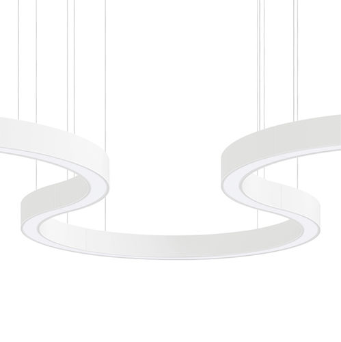 hanging light fixture / surface-mounted / LED / U-shaped