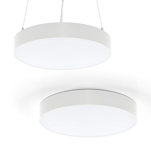 hanging light fixture / surface-mounted / LED / circular
