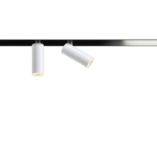 LED track light / round / tubular / extruded aluminum