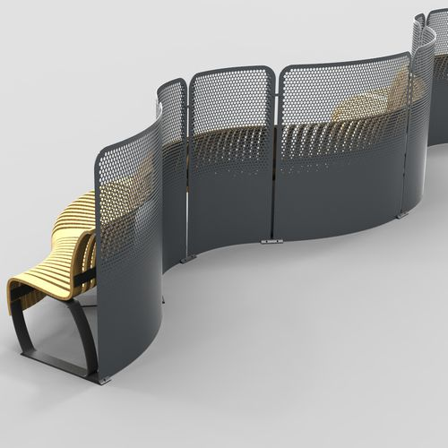 Metal room divider / commercial RADIUS DIVIDER Green Furniture Concept