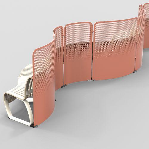 metal room divider / commercial / modular