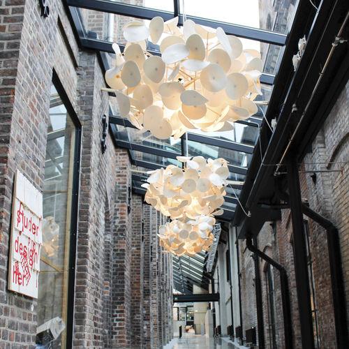 pendant lamp / contemporary / wool / birch