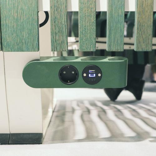 power socket / USB / double / countertop