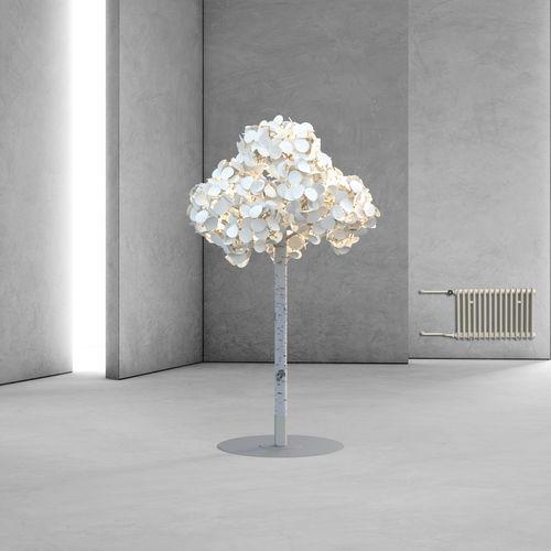 floor-standing lamp / original design / metal / wool