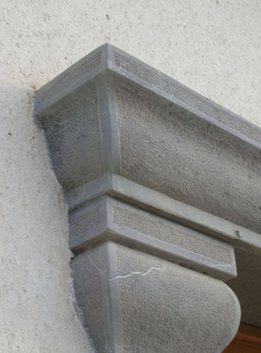 natural stone cornice / prefab / exterior