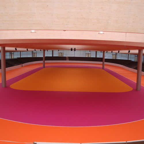 resin flooring / synthetic / for sports facilities / for athletic fields