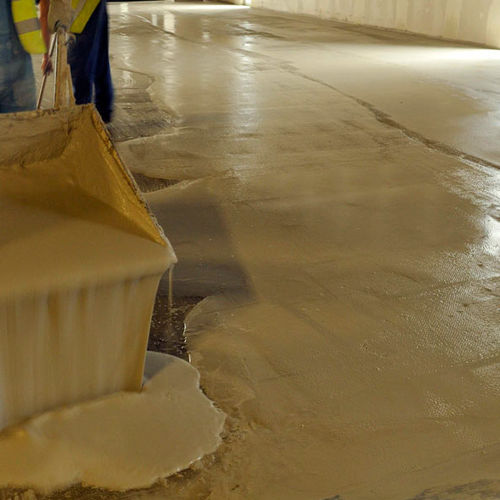 decorative coating / for flooring screed / for foundations / cement-based