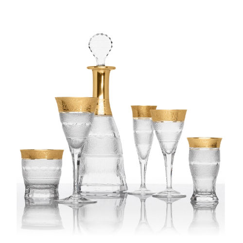 stemware glass / crystal / for domestic use / for gourmet restaurants