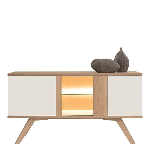 contemporary chest of drawers / oak / glass / integrated light