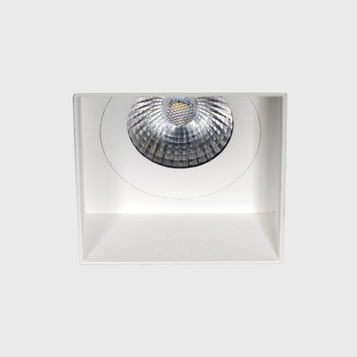 recessed downlight / LED / square / aluminum