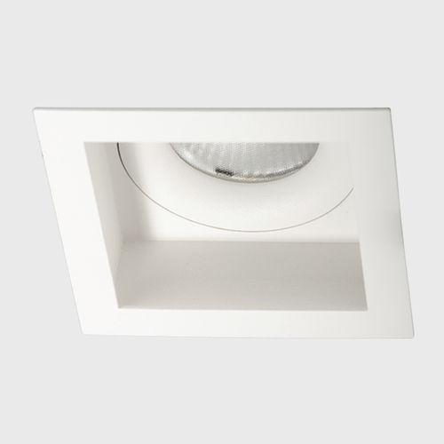 recessed downlight / LED / square / aluminum