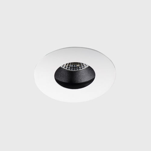 recessed downlight / LED / round / aluminum