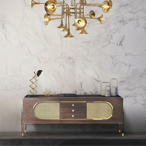 Scandinavian design sideboard / oak / walnut / solid wood