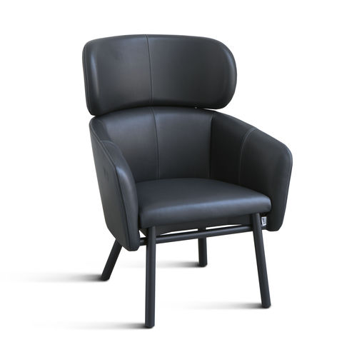 Contemporary armchair / metal / fabric / leather BALU' LOUNGE by Emilio Nanni Traba'