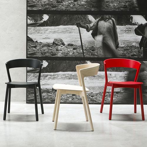Contemporary chair / beech / solid wood / ash EDITH by Massimo Broglio Traba'