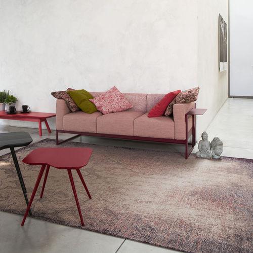Contemporary sofa / fabric / 3-seater / brown KIRK by Emilio Nanni Traba'