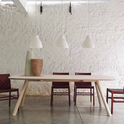 contemporary dining table / ash / MDF / rectangular