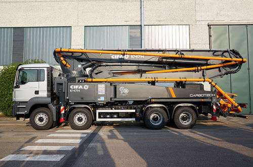 mobile concrete pump / truck-mounted
