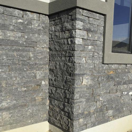 stone wall cladding / exterior / textured / decorative