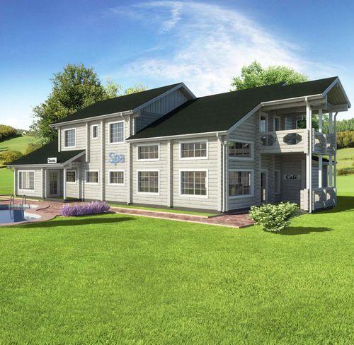 prefab building / solid wood / contemporary / energy-efficient