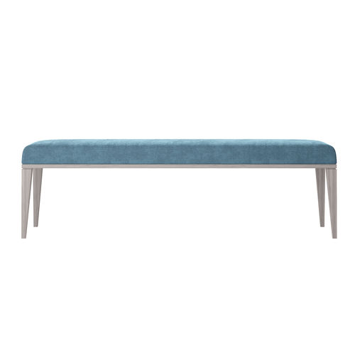 contemporary upholstered bench / fabric / leather / wooden