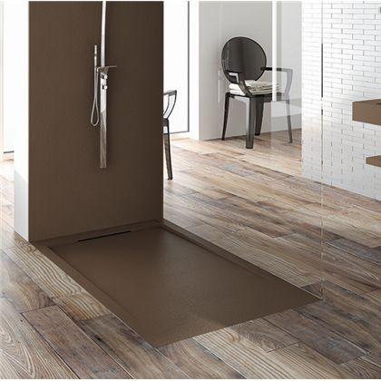 rectangular shower base / composite / plastic / non-slip