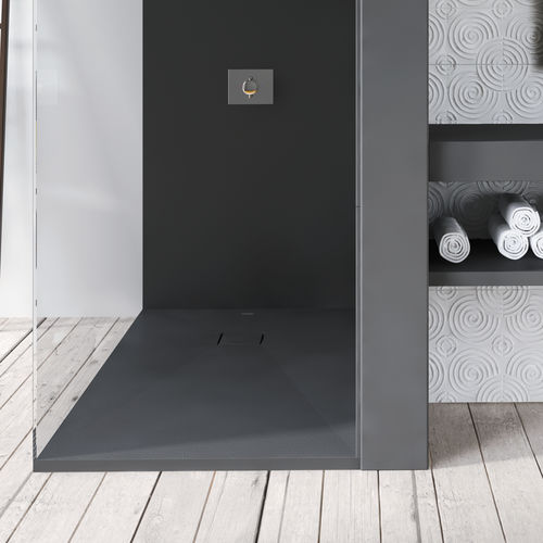 rectangular shower base / composite / extra-flat / non-slip