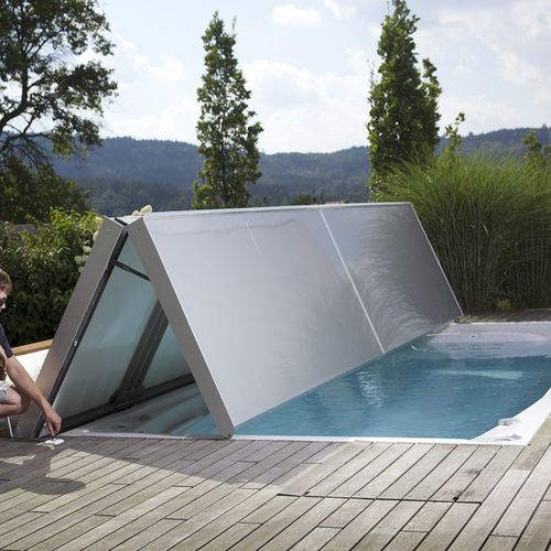 automatic swimming pool cover / security / thermal / winter