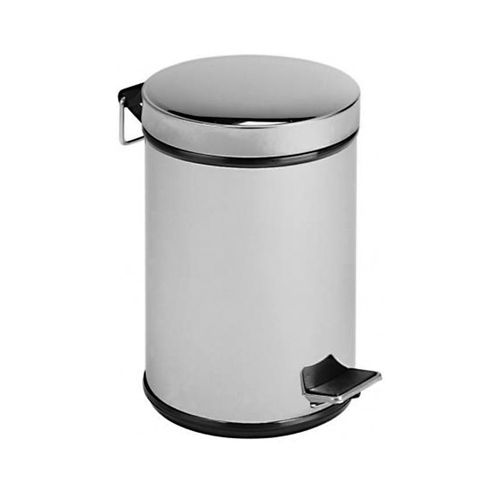 bathroom trash can / brass / foot-operated / contemporary