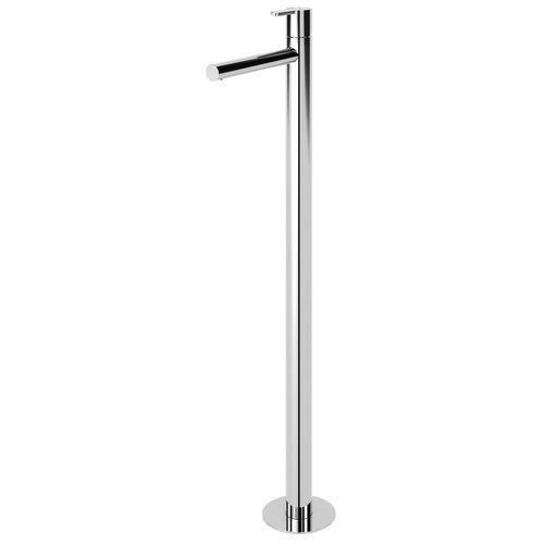 washbasin mixer tap / floor-mounted / chrome-plated brass / bathroom
