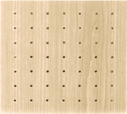 ceiling acoustic panel / MDF / perforated / commercial