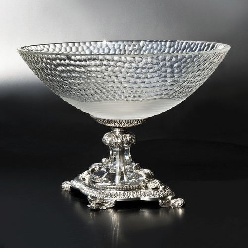 crystal centerpiece / bronze