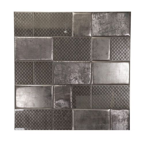 leather decorative panel / wall-mounted / upholstered / patchwork