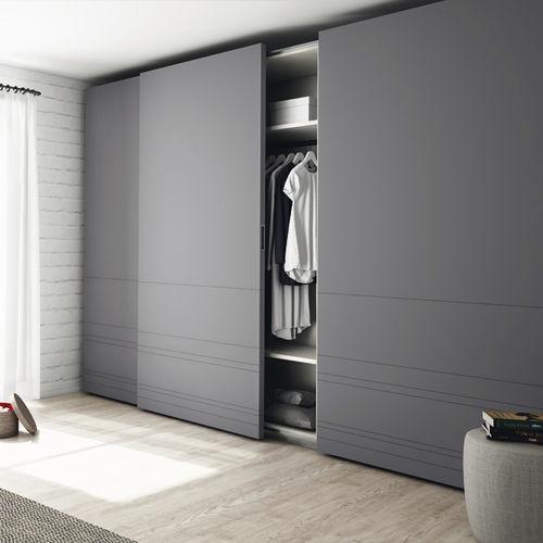 contemporary wardrobe / MDF / sliding door / commercial