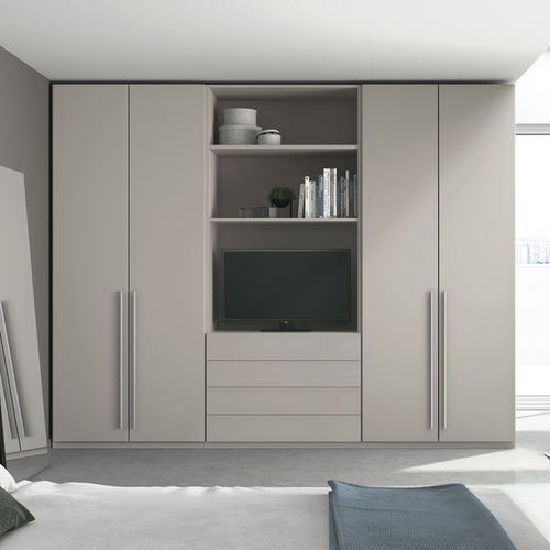 wall-mounted wardrobe / contemporary / MDF / with swing doors