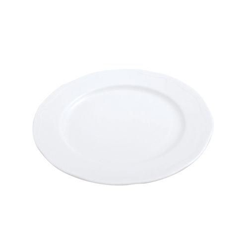 flat plate / round / porcelain / plain