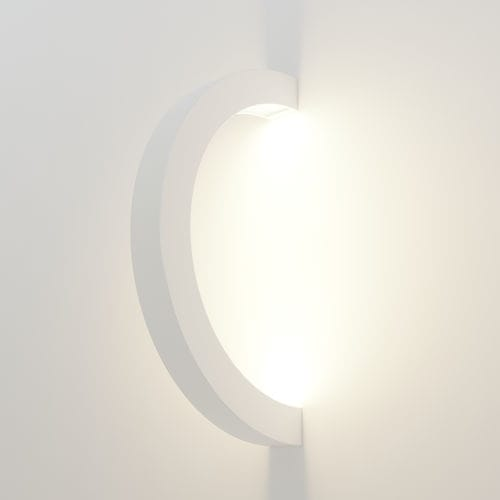 Contemporary wall light / aluminum / polycarbonate / LED OLALA 180 by Peter Danczkay Oleant Lighting