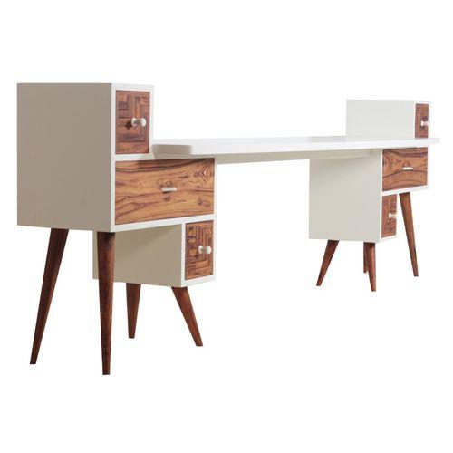 traditional sideboard table / solid wood / teak / rectangular