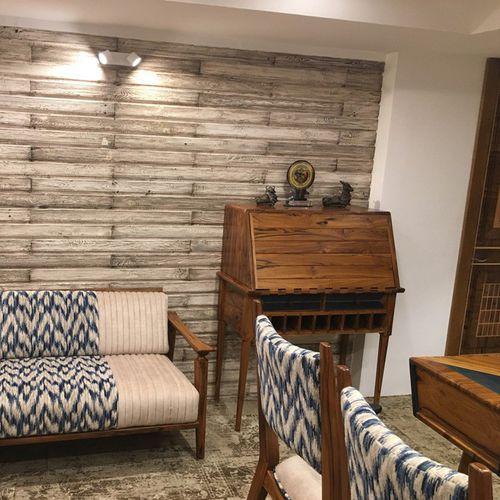 traditional secretary desk / solid wood / teak / with storage