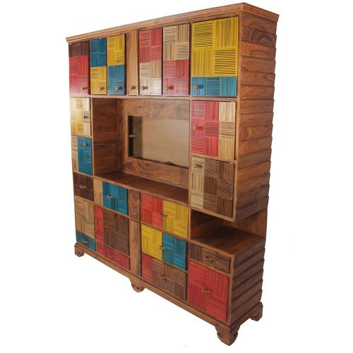 contemporary TV cabinet / solid wood