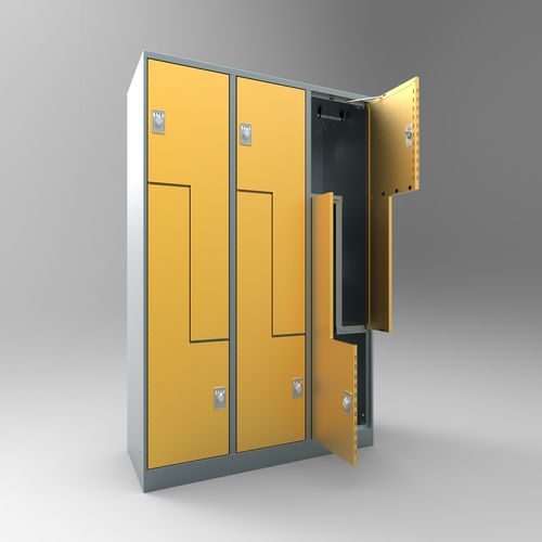 steel locker / for public buildings / for sports facilities / for schools